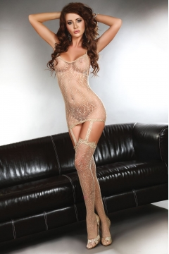 Béžové bodystocking Catriona